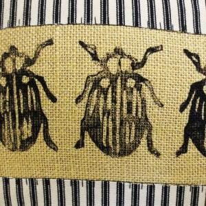 Decorative Pillow Cover with Beetle..