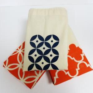 Organic Cotton Produce Bag Hand Pri..