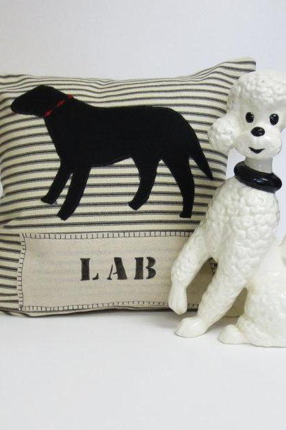 Lab Dog Silhouette Pillow Cushion Cover